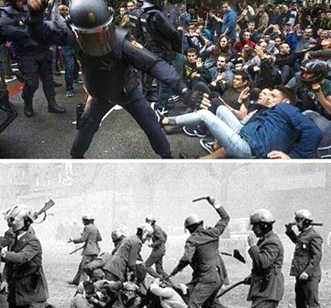 Barcellona oggi e cinquant'anni fa