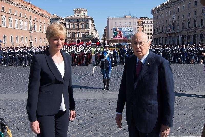Pinotti e Napolitano