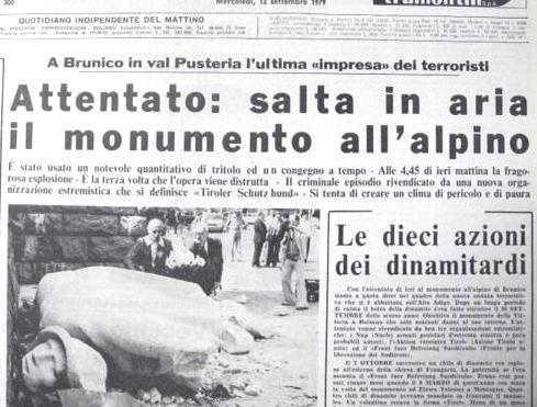 L'attentato all'Alpino del 1979