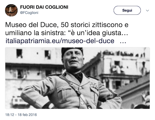 Screenshot fascisti social gongolanti per l'appello