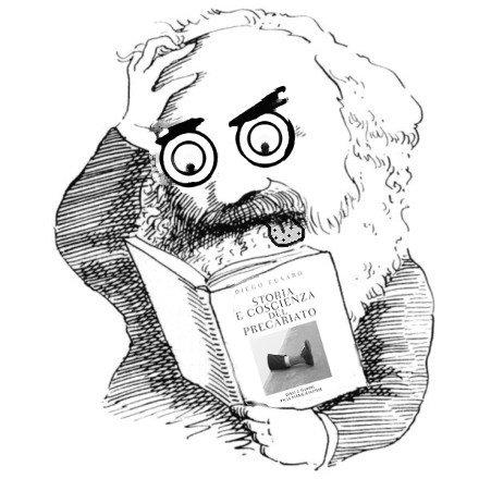 Karl Marx legge un libro di merda