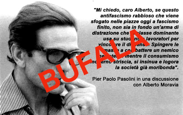 Pasolini antifascismo