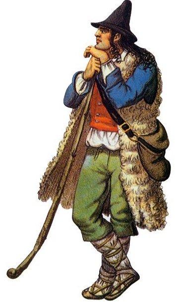 Davide/Galileo in costume abruzzese.