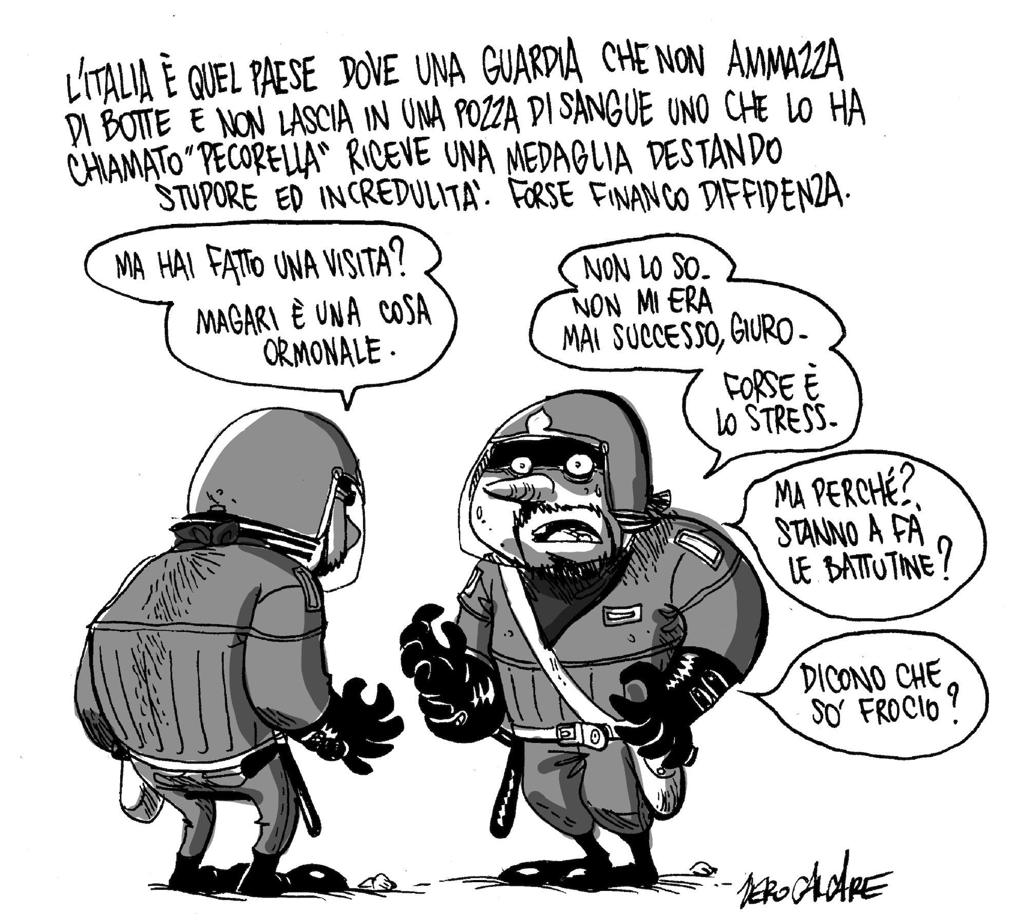La vignetta di ZeroCalcare sul caso Pecorella, 2012