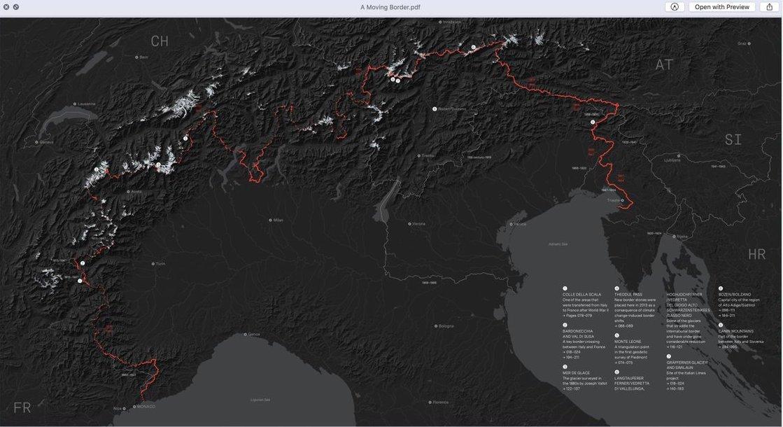 L'atlante del confine alpino realizzato da Italian Limes
