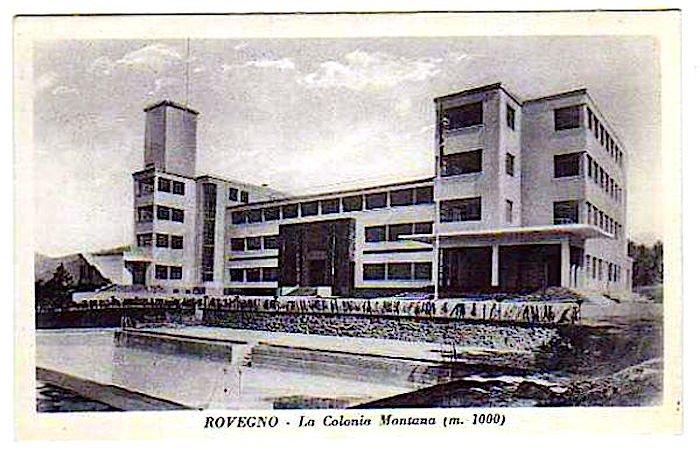 La colonia di Rovegno in una cartolina dei tardi anni Trenta.