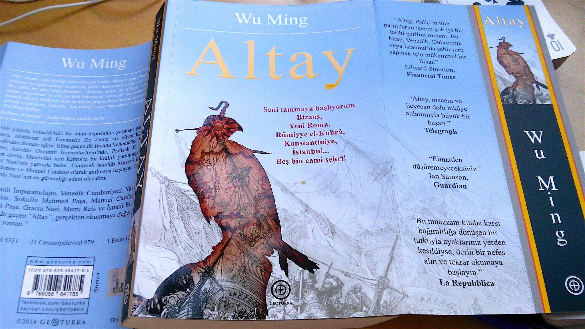 Altai, copertina dell'edizione turca