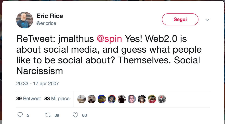 Il primo retweet della storia