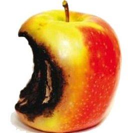 La mela andata a male
