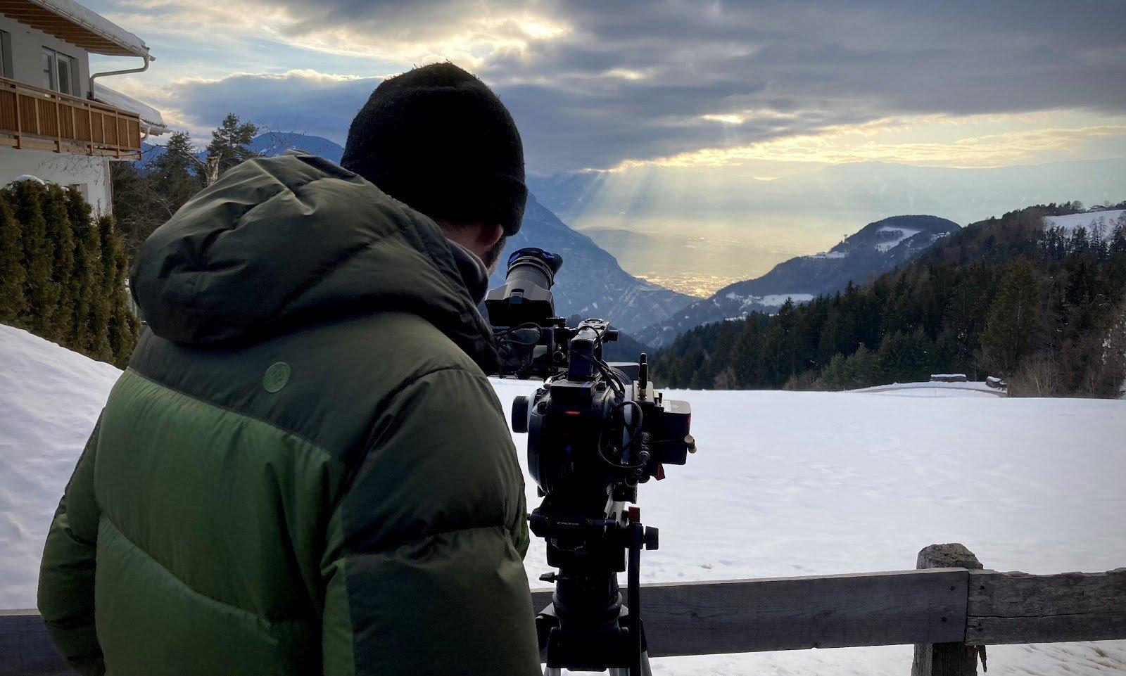 20 gennaio 2021, pioggia di luce sopra Bolzano