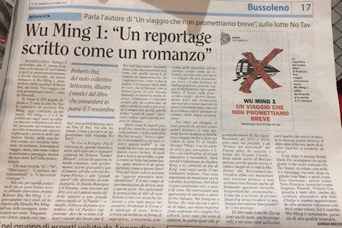Un viaggio che non promettiamo breve, La Valsusa, 20 ottobre 2016