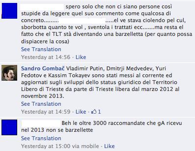 Gombac rivela che i contatti tra MTL e Putin sono iniziati nel 2012, un altro parla di 3000 raccomandate spedite da Trieste a Mosca nel 2013