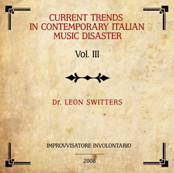 Current trends in contemporary italian music disaster